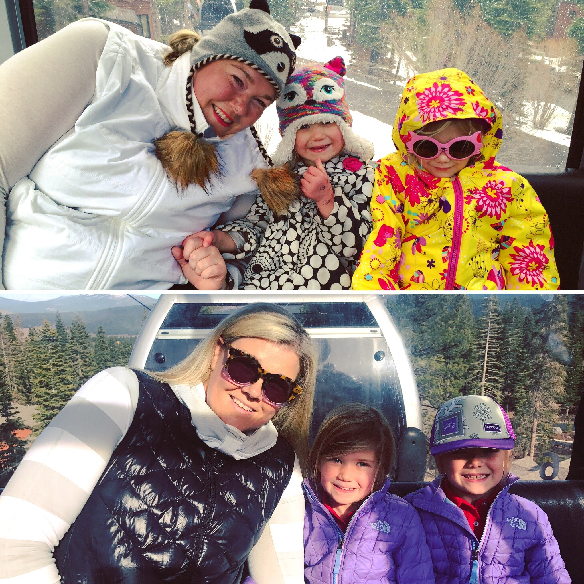 Before after ski